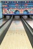 Lane av en bowlingbana Arkivfoton