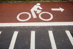 Lane for bicycle 3. Royalty Free Stock Image