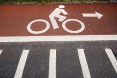Lane for bicycle 3. Royalty Free Stock Image