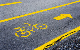 Lane for bicycle Stock Photos
