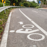 Lane for bicycle Royalty Free Stock Photography