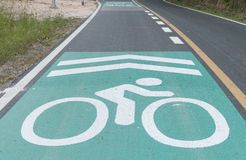 Lane for bicycles on the road. Lane for bicycles on the road Stock Images