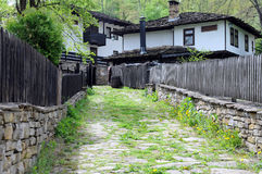 Lane in Bozhentsi Village Stock Photography