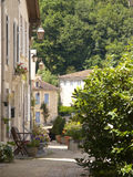 Lane and buildings in St Jean de Cole, Dordogne, France Royalty Free Stock Photos