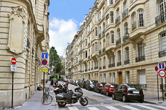Lane in the center of Paris. Stock Image