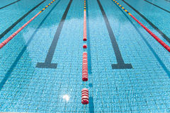 lane in clear swimming pool Stock Images