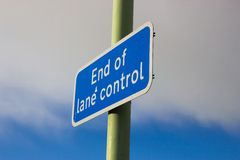 Lane Control Sign Royalty Free Stock Photo