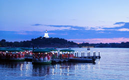 Beautiful Beihai Park, near the Forbidden City, Beijing. Royalty Free Stock Images