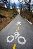 Lane for Cyclists and Pedestrians Royalty Free Stock Image