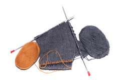 Lane di lavoro a maglia Immagini Stock Libere da Diritti