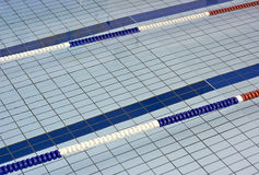 Lane dividers for racing in a swimming pool Royalty Free Stock Image