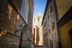 Lane at The Dome Cathedral Old Town, Riga, Latvia Royalty Free Stock Photo