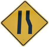 Lane Ends graphic. Sign stock photography