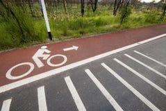 lane för 6 cykel Fotografering för Bildbyråer
