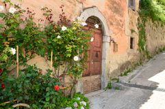 In a lane of Fiumata on Lake Salto in Abruzzo, Italy 45 Royalty Free Stock Image