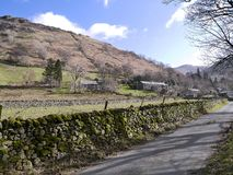 Lane into Hartsop, Lake District Royalty Free Stock Images