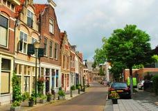 Lane i en liten stad i Europa Fotografering för Bildbyråer
