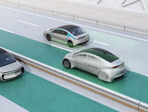 Lane keeping assist function concept for autonomous vehicle Royalty Free Stock Photography