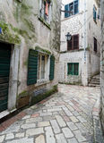 Lane. Kotor. Narrow alley in the town of Kotor, Montenegro Royalty Free Stock Photography