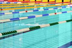 Lane are limited floats in swimming pool Stock Photography