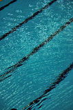 Lane lines of a swimming pool Royalty Free Stock Photography