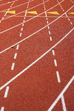 Lane Marks On Running Track Royalty Free Stock Photos