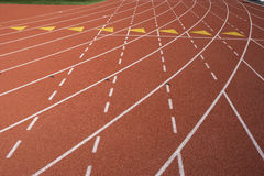 Lane Marks On Running Track Royalty Free Stock Image