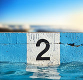 Lane Number Two Pool Background Stock Photo