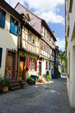 Lane with old buildings. Historic center of aschaffenburg, germany Royalty Free Stock Photography
