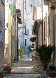 A corner of medieval Arpino, Italy royalty free stock images