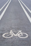 Lane. Road for bicycles,Road bikes only Stock Image