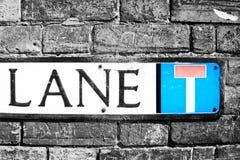 Lane sign Royalty Free Stock Image