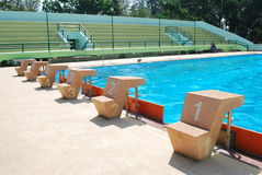 Lane swimming pool in outdoor pool Royalty Free Stock Images
