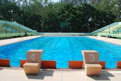 Lane swimming pool in outdoor pool Stock Photography