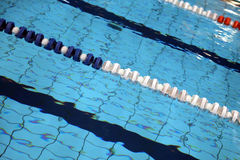 Lane swimming races in the swimming pool Royalty Free Stock Photos