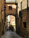 A lane in Toledo Spain stock image