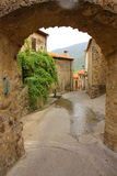 Lane village in France. Mosset village in Roussillon,region of France Stock Photography