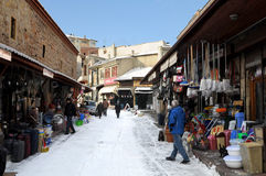 Lane in winter Kastamonu Royalty Free Stock Photography