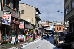Lane in winter Kastamonu Stock Images