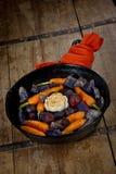lanego żelaza przygotowywający korzeniowi rynienki warzywa Obrazy Stock