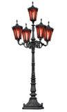 lanego szkła żelaza lampowa stara poczta czerwień Fotografia Royalty Free