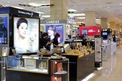 laneige和别致的choc化妆用品 免版税库存照片