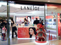 Laneige shop in Hong Kong Stock Images