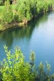 lanej jeziora kopalni otwarty drewno Fotografia Royalty Free