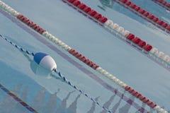 Lanes. Swimming pool lap lanes Royalty Free Stock Photo