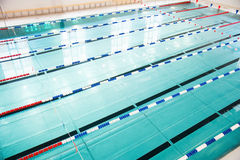 Lanes of a competition swimming pool Royalty Free Stock Image