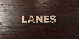Lanes - grungy wooden headline on Maple  - 3D rendered royalty free stock image Royalty Free Stock Photo
