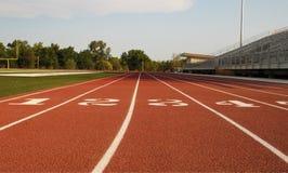 Lanes på running spår Fotografering för Bildbyråer