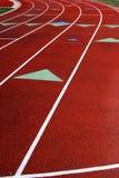 lanes race det running spåret Arkivbild