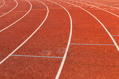 Lanes  red racing track Royalty Free Stock Photos